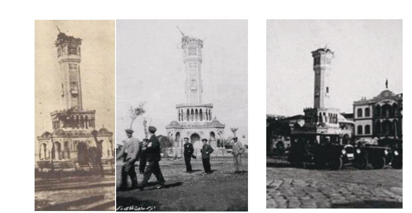 izmir saat kulesi depremle yıkıldı.